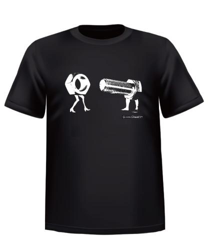 """Nut & Bolt"" – 1 of 6 T-shirt designs (see below)"